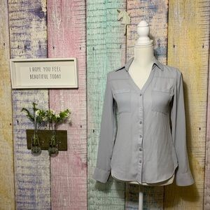 Express button down portofino work slim fit blouse